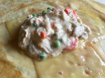 Open Crepe With Filling