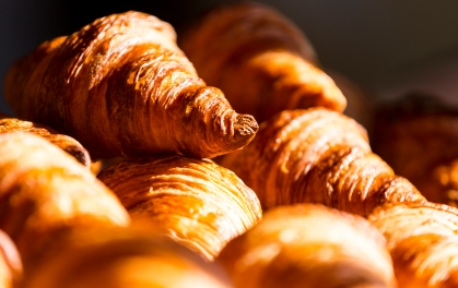 Many butter french good croissants